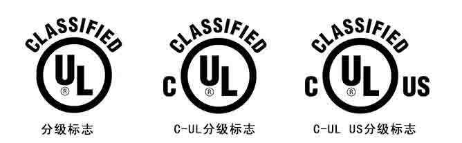 UL认证分级标志