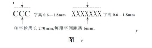 电线电缆3C标志尺寸